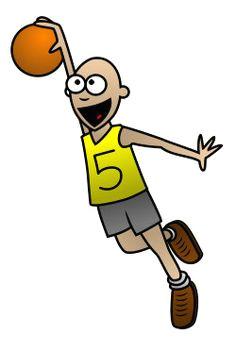 drawing a cartoon basketball player