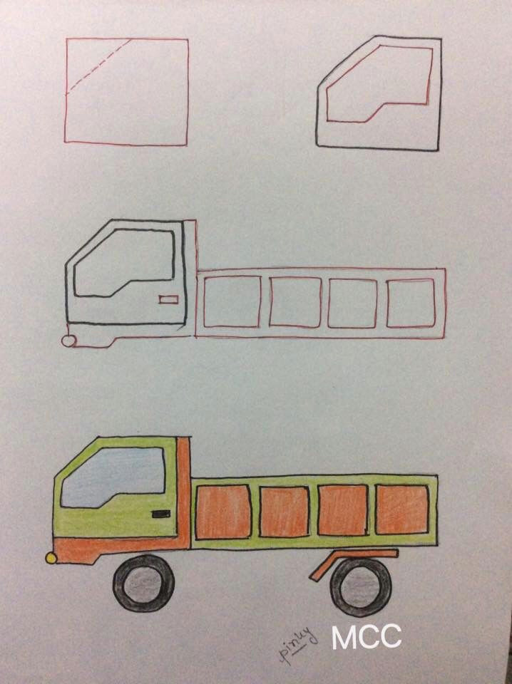 easy truck drawing for kids drawing tips letters and numbers easy drawings