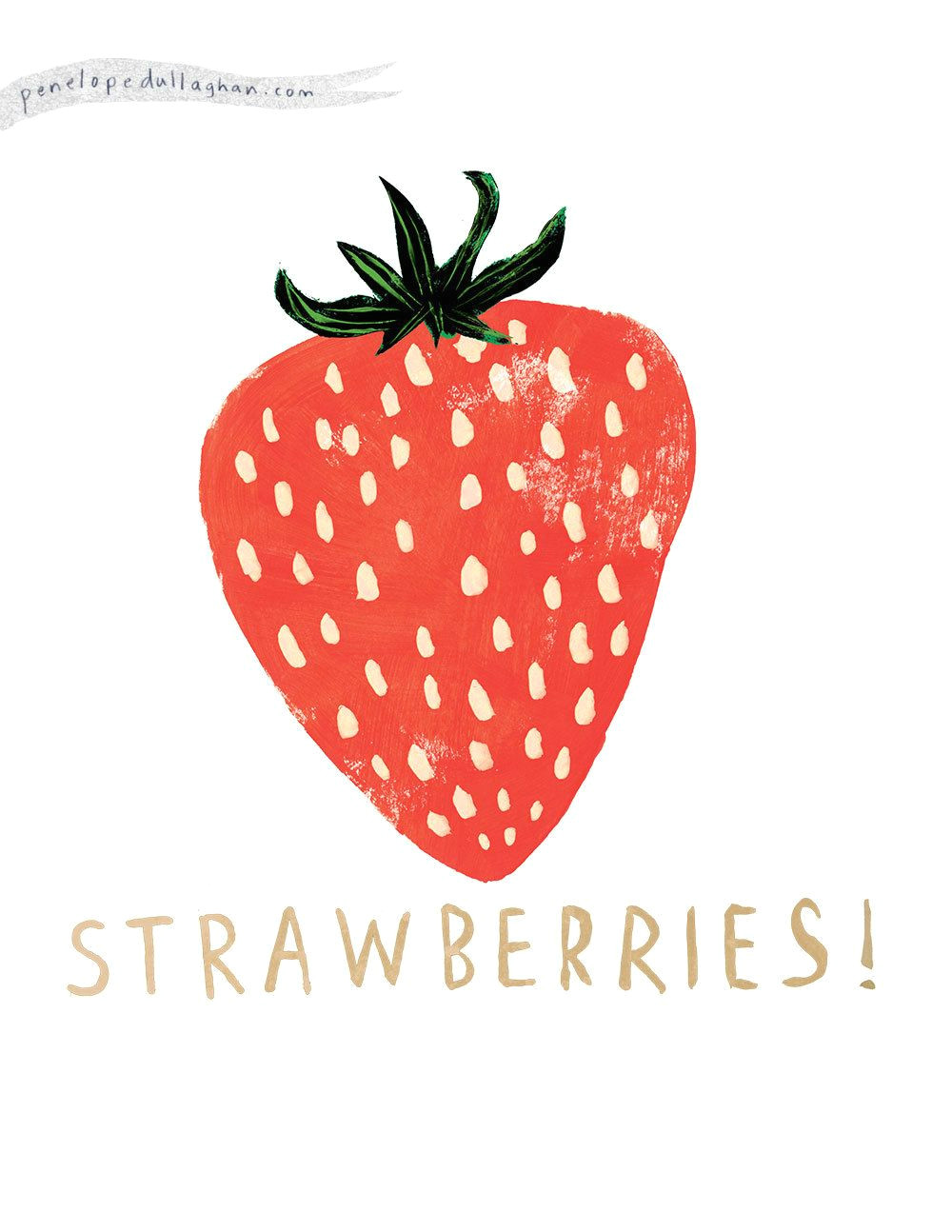 strawberries design illustration simple food drawing design type lettering texture
