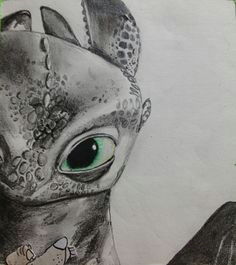 art by gloria e toothless from how to train your dragon drawing with charcoal pencil