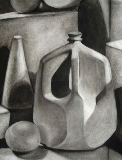 still life objects white object still life assignment drawing projects drawing lessons