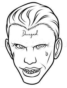 draw suicide squad joker easy step by step drawing sheets added by dawn august pm