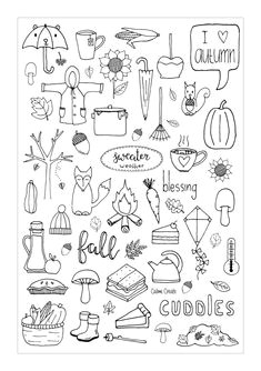 freebie friday fall a5 dashboard autumn doodles fall drawings doodle drawings planner