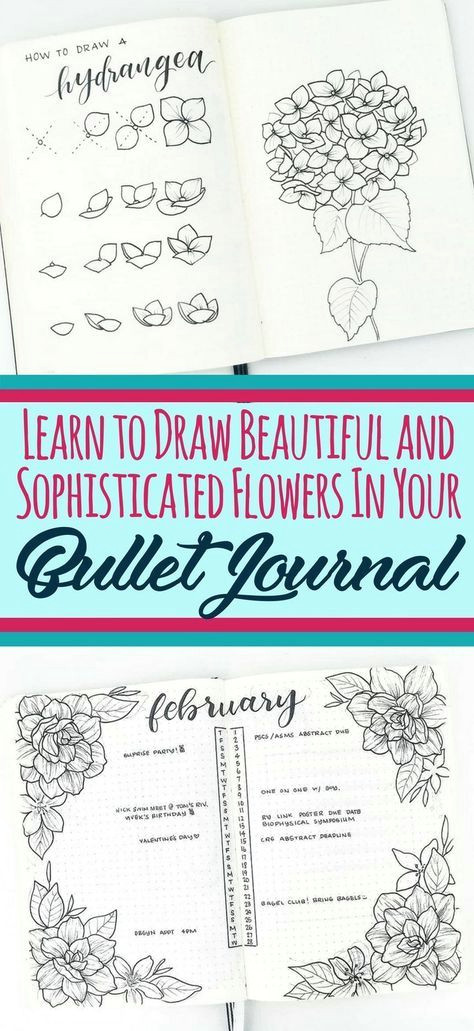 learn to draw beautiful and sophisticated flower doodles in your bullet journal these bullet journal doodles are the perfect decoration for any layout