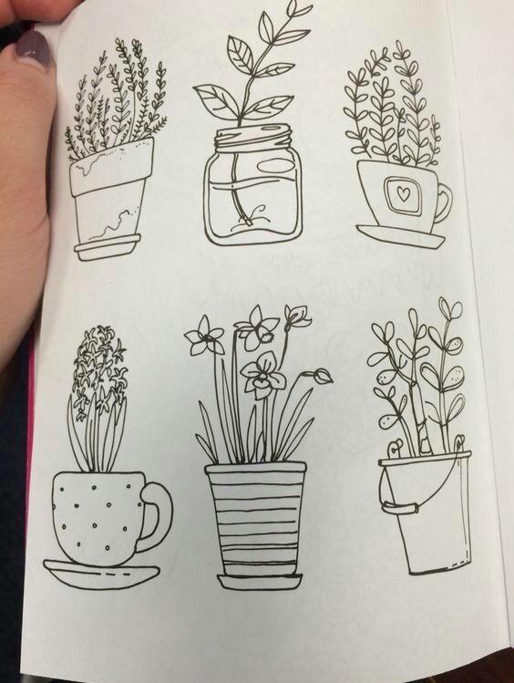 imagen de doodles plant and bullet journal