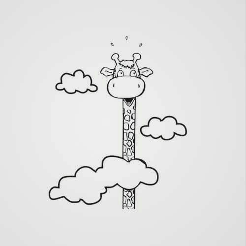 art sculpture doodle art doodle drawings easy drawings easy giraffe drawing