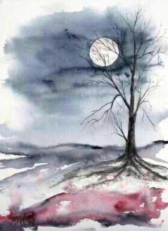 easy nature paintings dark paintings colorful paintings watercolour paintings landscape paintings simple