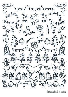 nov 17 free christmas bullet journal printables