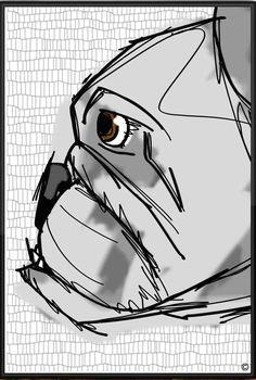 bulldogge malerei zeichnungen tiere illustration hundekunst ich liebe hunde