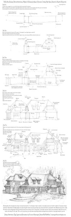 perspective drawing tutorial a cottage home by built4ever deviantart com on deviantart