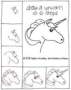 Easy Unicorn Drawings Step by Step 128 Best Kawaii and Doodles Drawings Step by Step Images Doodle