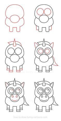 how to draw a unicorn unicorn drawing