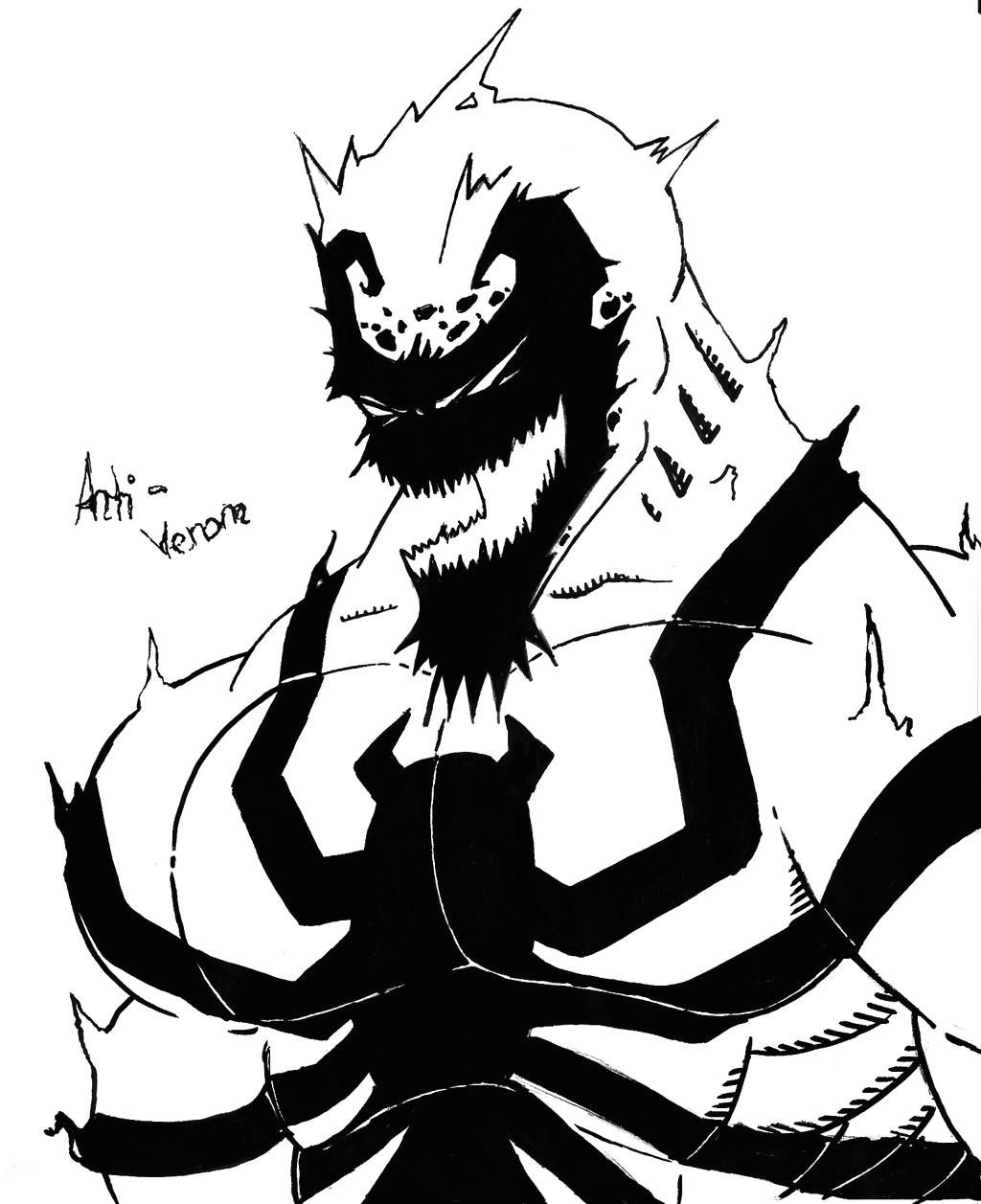 venom drawing cute 1024x1257