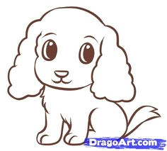 how to draw a easy dog step 6 puppy drawing easy dog drawing simple