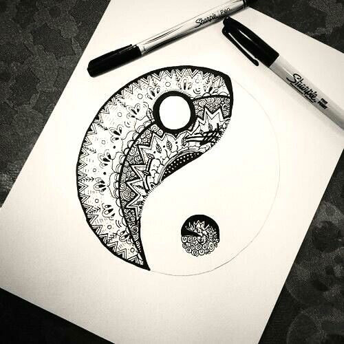 Easy Yin Yang Drawings Tattoo Ideas Geometric Yin Yang Best Tattoos Sketch References