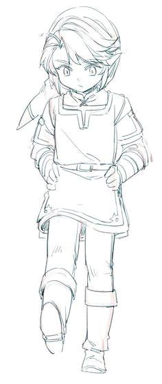 link sketch legend of zelda