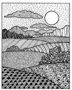 patterns landscapedrawing