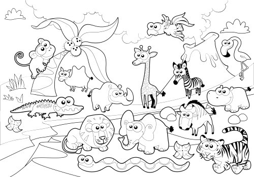 coloring pages baby zoo animals unique i pinimg originals 05 0d zoo coloring pages