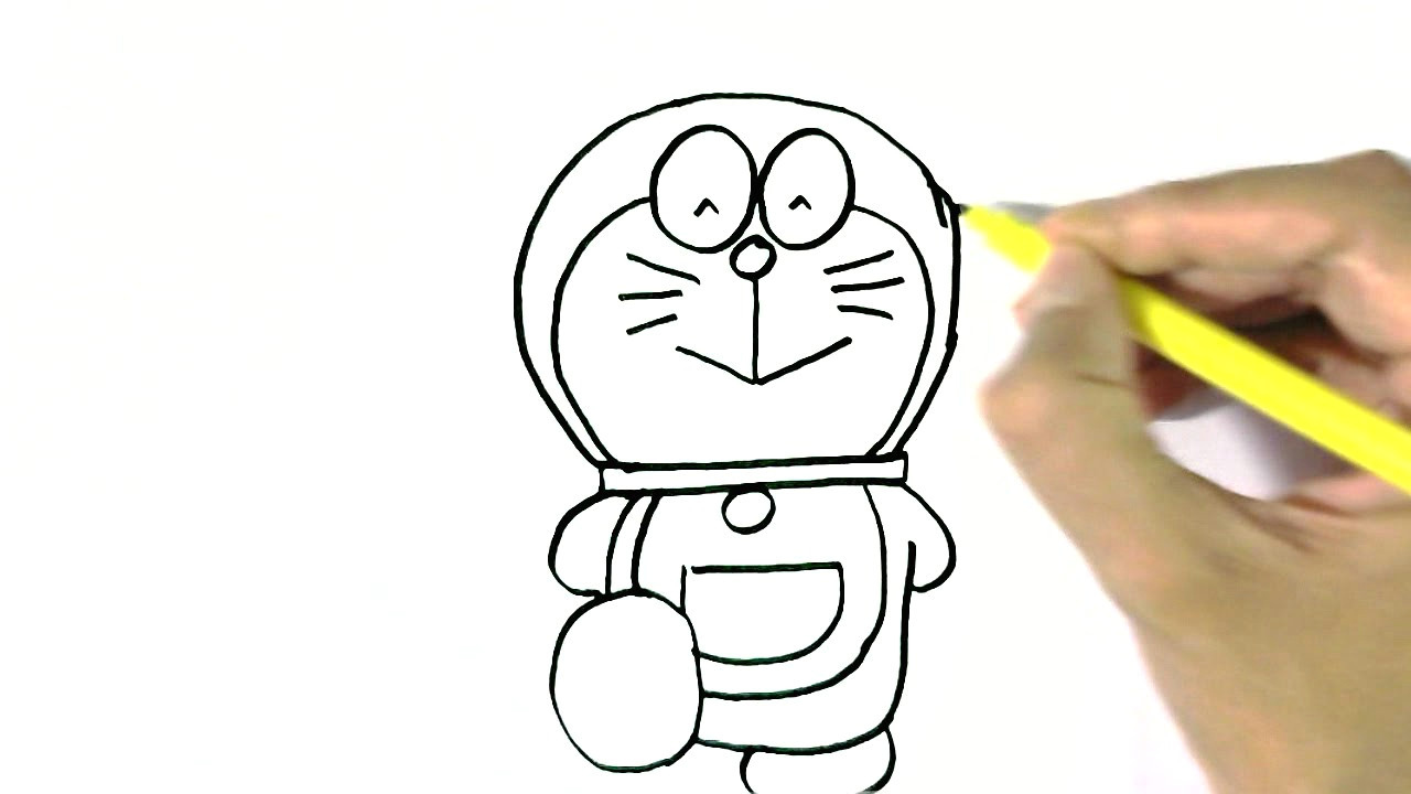 how to draw doraemon in easy steps for children beginners cartoon hub