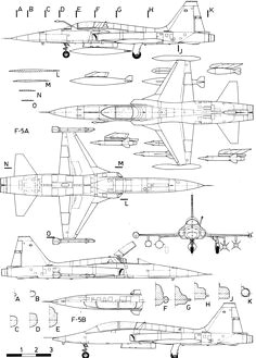 northrop f 5 blueprint