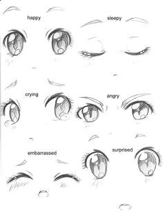 manga eyes expressions anime eyes drawingeasy