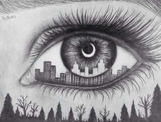dit is een voorbeeld hoe ik het wil gaan tekenen maar uiteindelijk heb ik er voor gekozen om een oog met een verhaal te maken