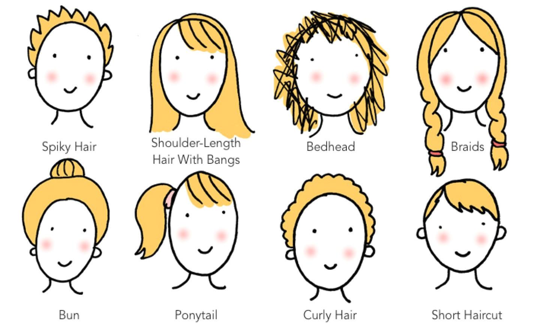 8 ways to draw cartoon hair