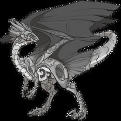 flight rising m wildclaw dragon robot skin by shadow blood