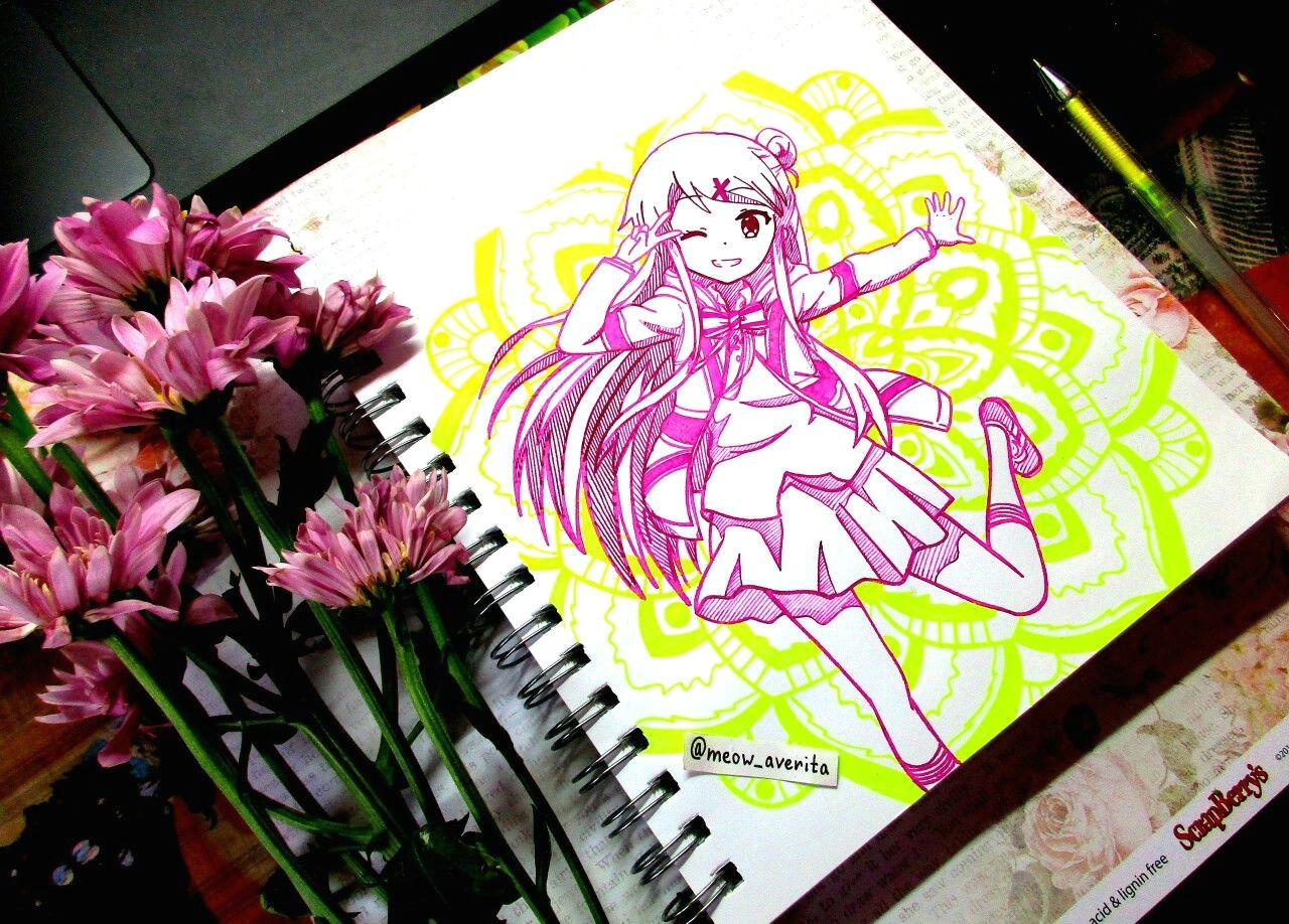 drawing anime pattern mandala creative handmade art cute