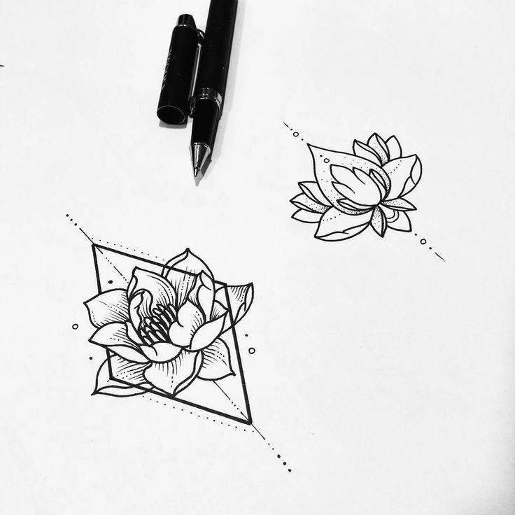 flower geometric drawing