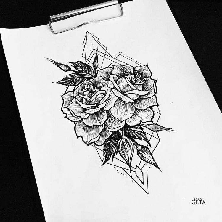 geometric rose tattoo geometric tattoo design geometric lines rose neck tattoo rose