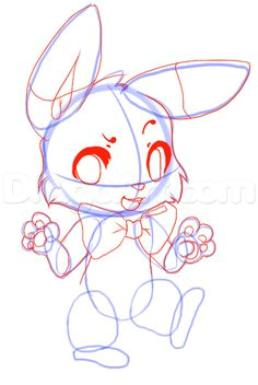 how to draw five nights at freddys bonnie step 14