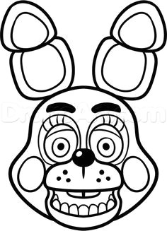 how to draw toy bonnie from five nights at freddys 2 step by step
