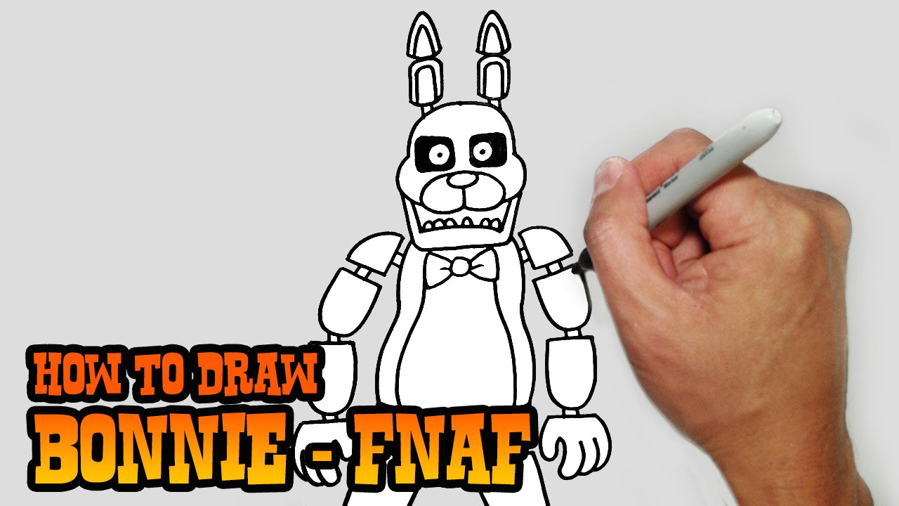 how to draw bonnie five nights at freddy s video lesson