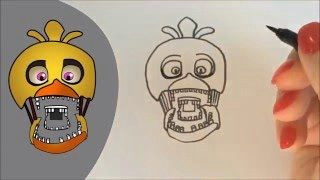 how to draw chica from five nights at freddy s easy tutorial on drawing chica from