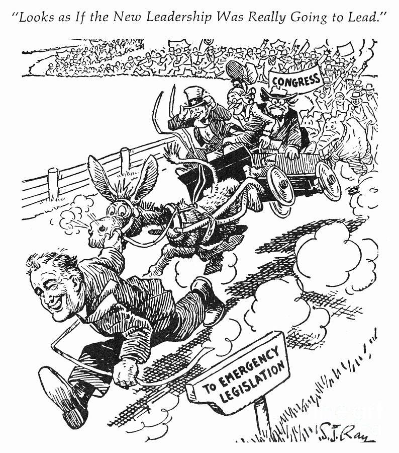 1933 photograph new deal cartoon 1933 by granger