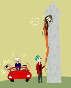 gd rapunzel hahaha lol and omg that shirtless taeyang lol