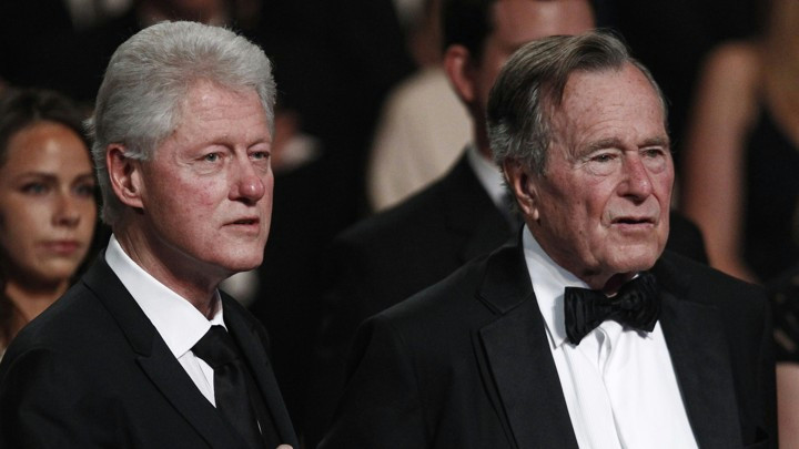 former presidents bill clinton and george h w bush at the kennedy center in march 2011 jim young reuters