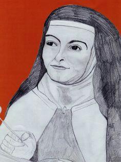 sketch of st teresa of avila by kathleen ellinger ofs