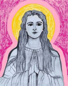 st philomena drawing by kathleen ellinger ofs