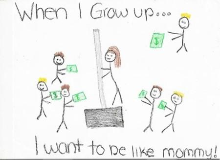 Girl Drawing Mom Home Depot 15 Disturbing Drawings by Kids Oddee