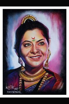 sonali kulkarni poster rangoli art by kartik khadatkar k k from wardha maharashtra
