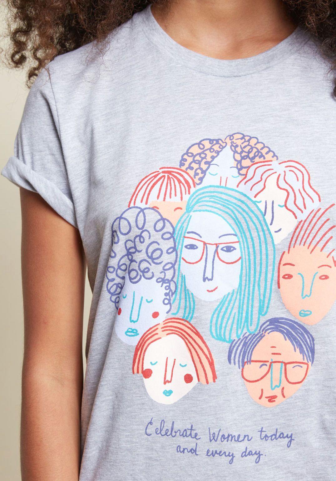 celebrate women graphic tee