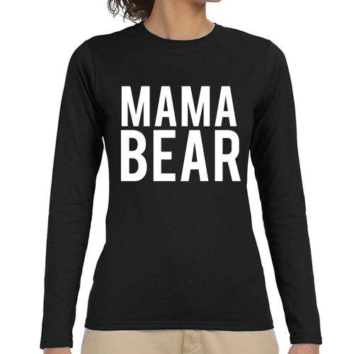 mama bear quote slogan illustration personalised unisex tumblr blog fashion long sleeve drawing