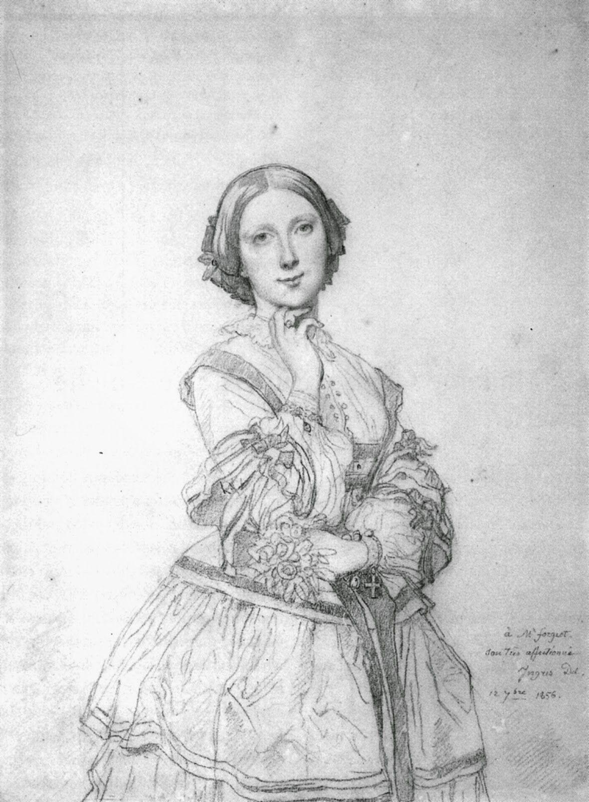mademoiselle ceceile panckoucke ingres 1856