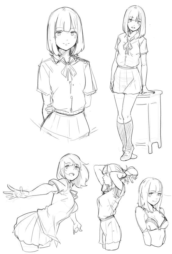 anime poses female female drawing poses manga poses anime school girl manga