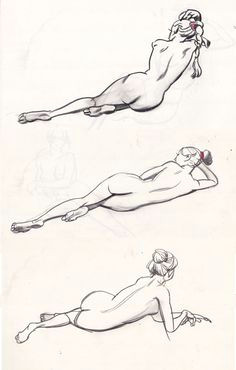 Girl Laying Down Drawing 320 Best Character Pose Lay Down Images