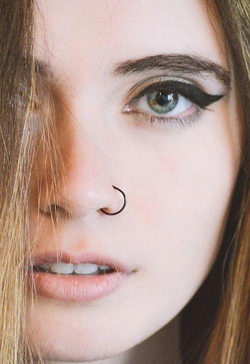 Girl with Nose Ring Drawing Pequea Os Y Encantadores Piercings Para Tu Nariz Tats Piercings