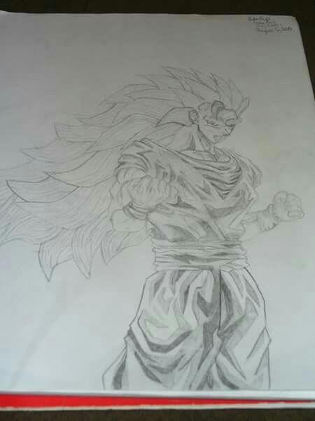 ssj 3 goku drawing