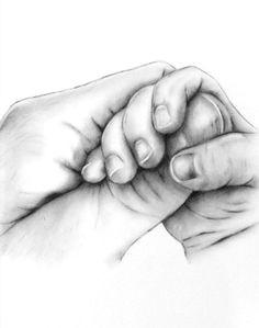 aangepaste houtskool tekening van uw foto van de baby handen sketches of hands drawings of